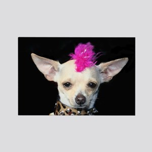 Chihuahua Punk Rectangle Magnet