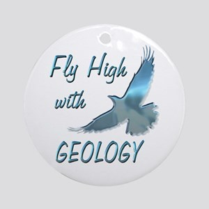 Fly with Geology Ornament (Round)