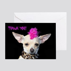 Thank You Chihuahua Punk Greeting Card