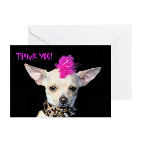Thank You Chihuahua Punk Greeting Cards (Pk of 10)