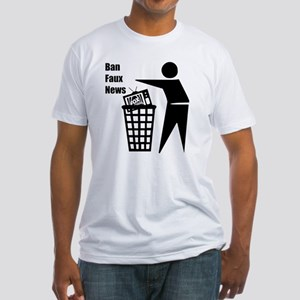 Ban Faux News Fitted T-Shirt