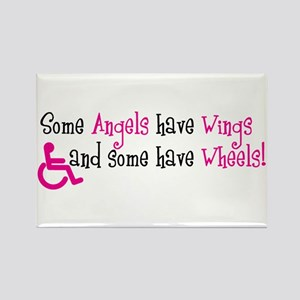 Some Angels have Wheels Rectangle Magnet