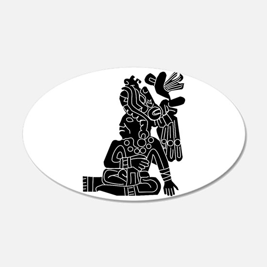 Mexican Aztec Protection 22x14 Oval Wall Peel