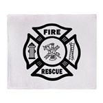 Fire Rescue Throw Blanket