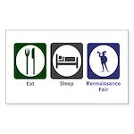 Eat - Sleep - Ren Fair Sticker (Rectangle)