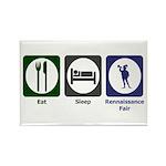 Eat - Sleep - Ren Fair Rectangle Magnet (10 pack)