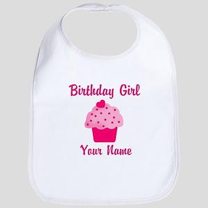 Birthday girl personalized Bib