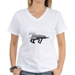 Mustang Horse Women's V-Neck T-Shirt