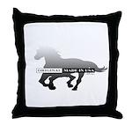 Mustang Horse Throw Pillow