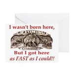 Not Born Here Greeting Cards (Pk of 20)