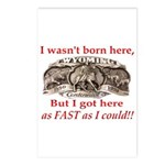 Not Born Here Postcards (Package of 8)