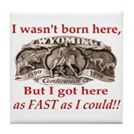 Not Born Here Tile Coaster
