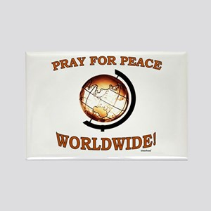 Pray For Peace Worldwide Rectangle Magnet