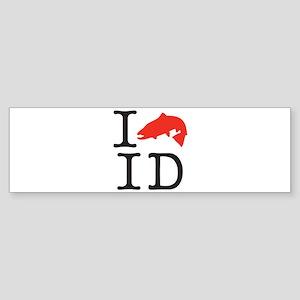 I fish ID cafe 2x2 Bumper Sticker