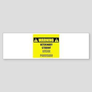 WARNING: Vet Student Under Pressure Sticker (Bumpe