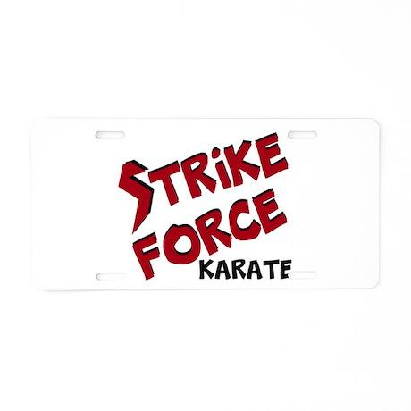 Strike Force Aluminum License Plate