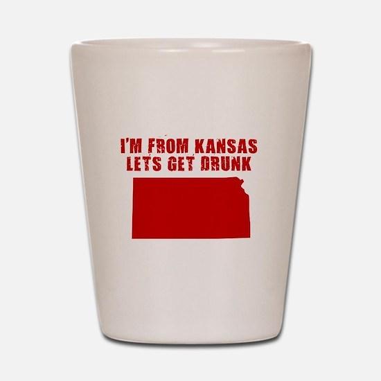 KANSAS SHIRT DRINKING HUMOR B Shot Glass