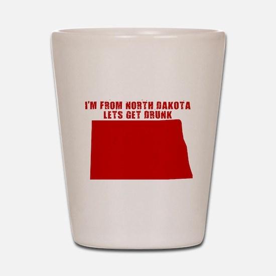 NORTH DAKOTA T-SHIRT FUNNY NO Shot Glass