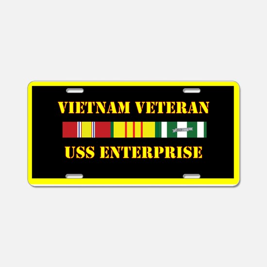 USS Enterprise Aluminum License Plate