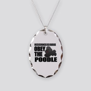 Poodle Necklace Oval Charm