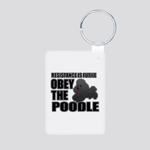 Poodle Aluminum Photo Keychain