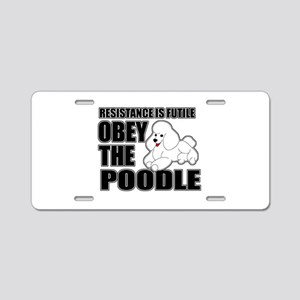Poodle Aluminum License Plate