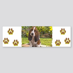 BASSET HOUND PUPPY Sticker (Bumper)
