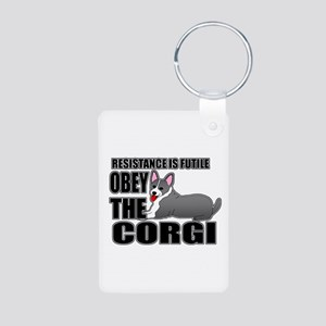 Corgi Aluminum Photo Keychain