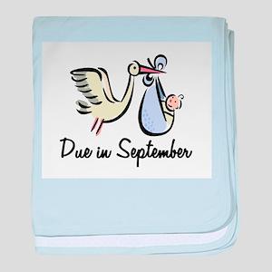 Due In September Stork baby blanket
