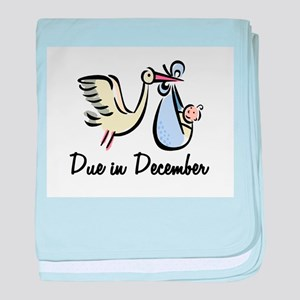 Due In December Stork baby blanket