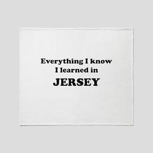 Learned in Jersey Throw Blanket