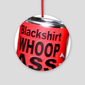 Husker Football Blackshirt Ornament (Round)