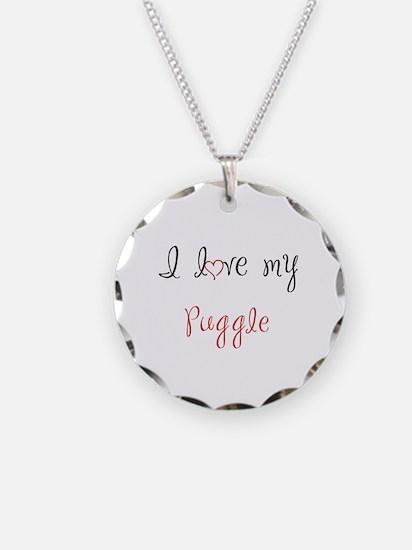 I Love My Puggle Necklace