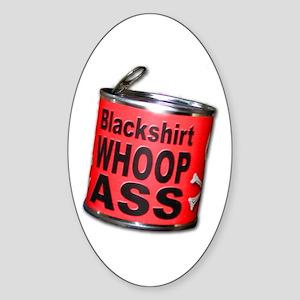 Husker Football Blackshirt Oval Sticker