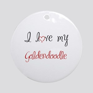 I Love My Goldendoodle Ornament (Round)