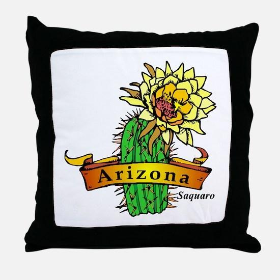 Arizona State Flower Throw Pillow