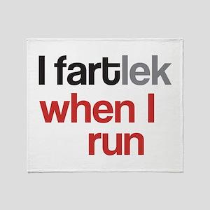 Funny I FARTlek © Throw Blanket