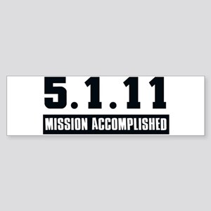 Mission Accomplished Sticker (Bumper)