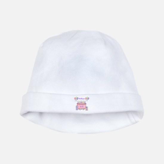 Personalized Birthday Girl baby hat