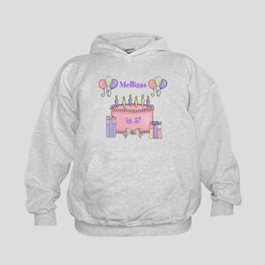 Personalized Birthday Girl Kids Hoodie