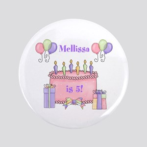 """Personalized Birthday Girl 3.5"""" Button"""