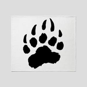 BLACK Bear Paw Throw Blanket