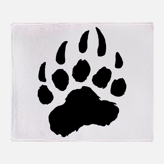 BLACK Bear Paw Throw Blanket