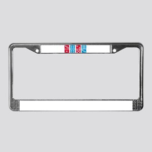 Domino License Plate Frame