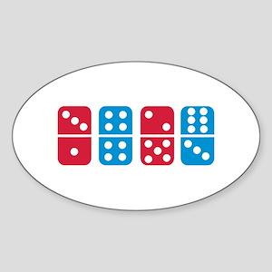 Domino Sticker (Oval)