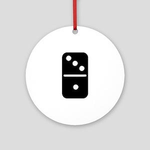 Domino Ornament (Round)
