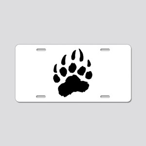 BLACK Bear Paw Aluminum License Plate