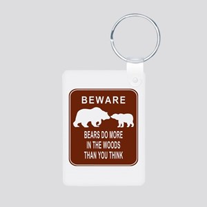Bears in the Woods Aluminum Photo Keychain