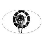 Malamute Agility Sticker (Oval 10 pk)