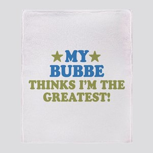 Greatest Bubbe Throw Blanket